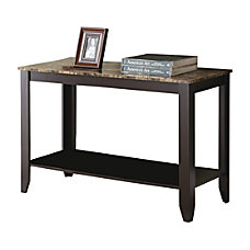 Monarch Specialties Marble Top Console Table