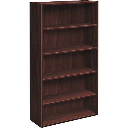 "HON® Foundation 5 Shelf Bookcase, 32""W, Mahogany"