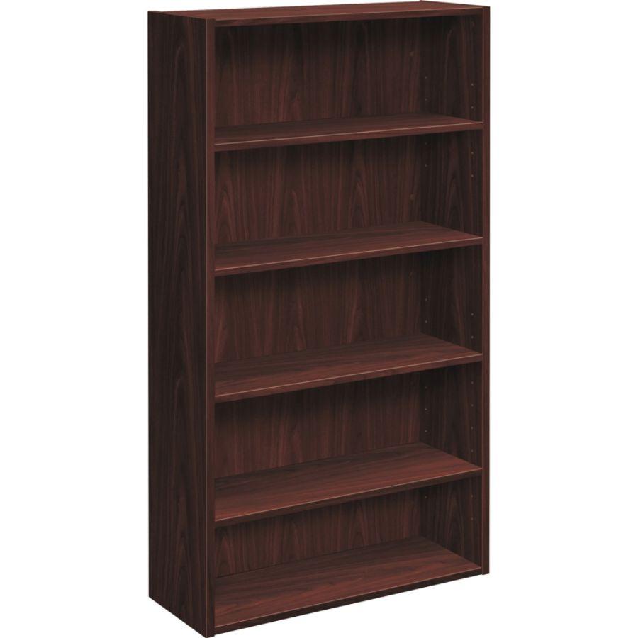 Hon Foundation 5 Shelf Bookcase 32 W Mahogany By Office Depot