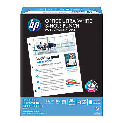 HP Office Paper 3 Hole Punched