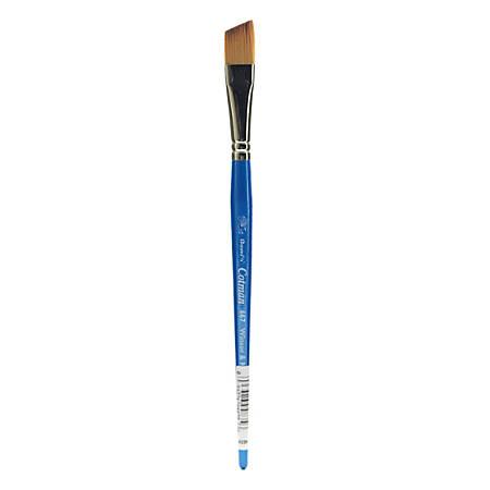 "Winsor & Newton Cotman Watercolor Paint Brush 667, 1/2"", Angle Bristle, Synthetic, Blue"