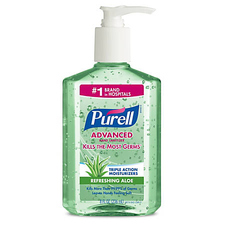 Purell® Instant Hand Sanitizer With Aloe, 8 Oz