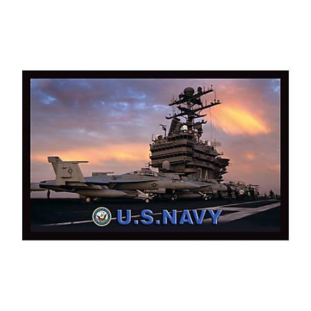 """California Color Products Navy Door Mat, 24"""" x 36"""", Navy Pride, Pack Of 3"""