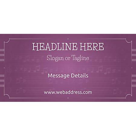 Custom Horizontal Banner, Musical Notes