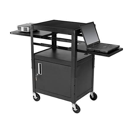 Balt® Dual Adjustable Laptop Cart, Black