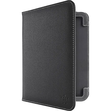 """Belkin Carrying Case (Folio) for 7"""" Tablet PC - Black - Leather"""