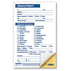 ComplyRight Absence Reports Compact 2 Part
