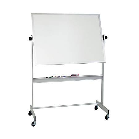 """Balt® Best Rite Magnetic Dry-Erase White Board, Porcelain, 48"""" x 60"""", Aluminum Frame"""