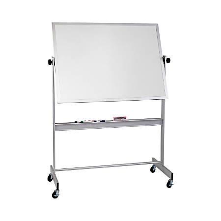 "Best-Rite Magnetic Cork/Dry-Erase Reversible Board, Natural Cork/Porcelain, 48"" x 72"", Aluminum Frame"