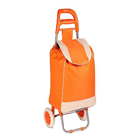 Honey-Can-Do Rolling Knapsack Bag Cart, Orange