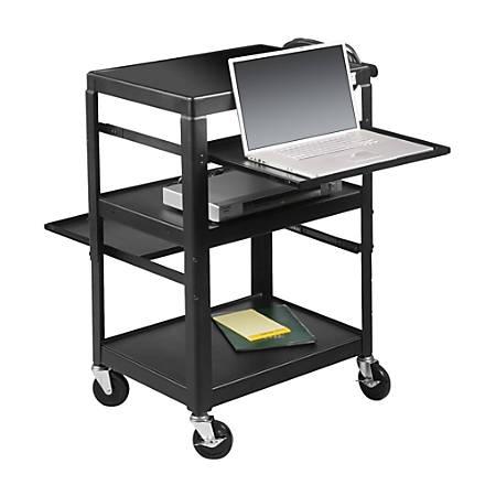 Balt® Adjustable Laptop Cart, Black