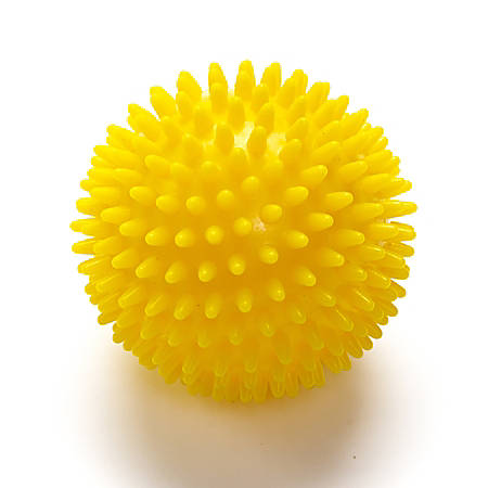 Black Mountain Products Deep-Tissue Massage Ball With Spikes, Yellow