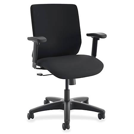 "HON ComfortSelect B6 Task Chair - Fabric Seat - 5-star Base - Black - 26.8"" Width x 30.8"" Depth x 50"" Height"