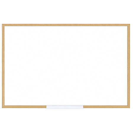 "FORAY™ Dry-Erase Board With Oak Frame, 24"" x 36"", White Board, Oak Frame"