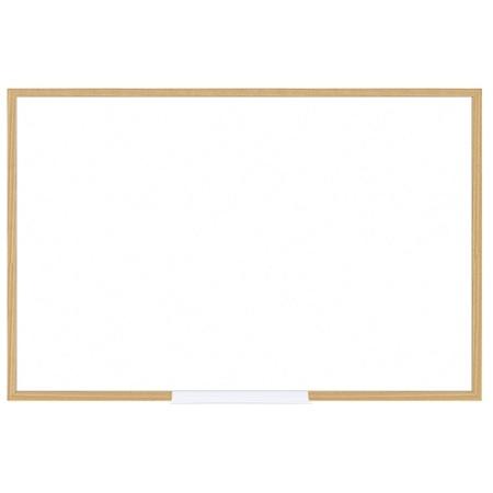 FORAY Dry Erase Board With Oak Frame 24 x 36 White Board Oak Frame ...