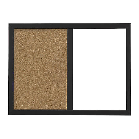 FORAY Magnetic Dry EraseCork Combo Board With Frame 18 x 22 WhiteTan ...