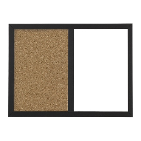 daf6ffcfce8b6 FORAY™ Magnetic Dry-Erase/Cork Combo Board With Frame, 18