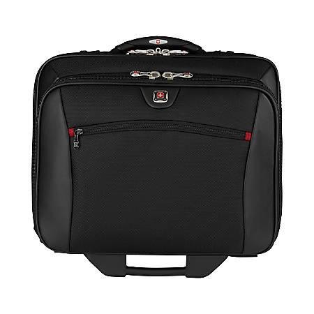 "SwissGear® Potomac Double Gusset Wheeled Computer Case For 17"" Laptop, Black"