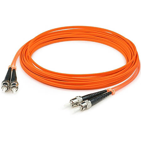 AddOn 8m ST (Male) to ST (Male) Orange OM1 Duplex Fiber OFNR (Riser-Rated) Patch Cable