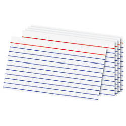 office depot brand index cards 3 x 5 ruled white 100 by