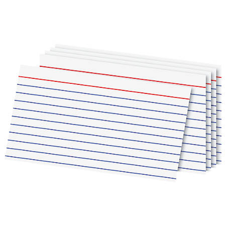 5 by 8 index card template - office depot brand index cards 3 x 5 ruled white 100 by