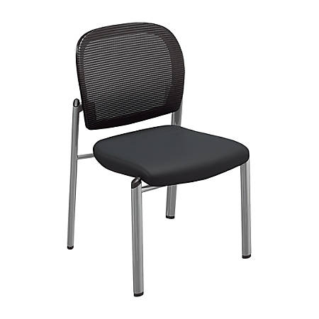 Mayline® Valore Bistro Mesh Chairs, Black, Set Of 2