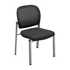 Mayline Valore Bistro Mesh Chairs Black