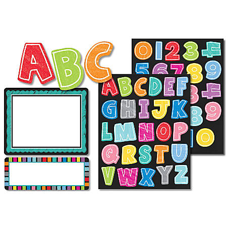 Carson-Dellosa Colorful Chalkboard Variety Sticker Pack, Multicolor, Pack Of 197