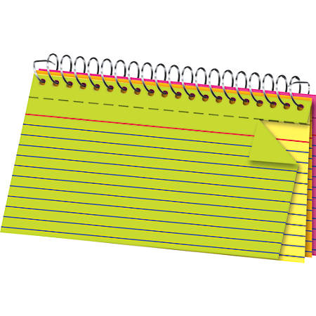 """Office Depot® Brand Spiral Bound Index Cards, 3"""" x 5"""", Glow Colors, Pack Of 100"""