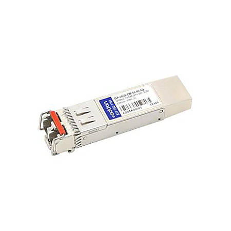 AddOn MSA and TAA Compliant 10GBase-CWDM SFP+ Transceiver (SMF, 1590nm, 40km, LC, DOM)