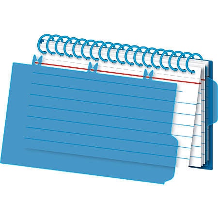 """Office Depot® Brand Viewfront Spiral Index Cards With Polypropylene Cover, 3"""" x 5"""" Cards, Assorted Colors, 50 Bound Cards"""