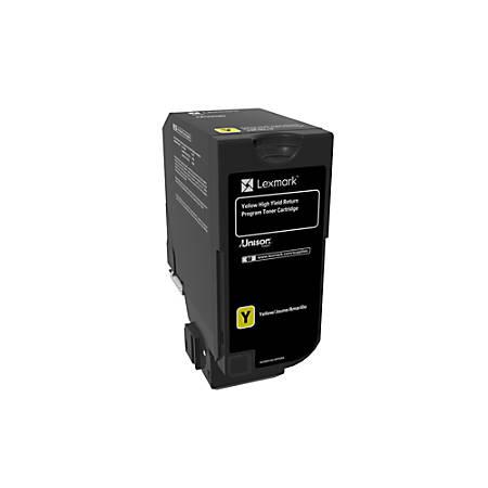 Lexmark™ Unison™ High-Yield Return Program Toner Cartridge, CS725, Yellow (74C1HY0)