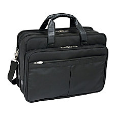 McKleinUSA Walton Expandable Laptop Case Black