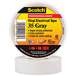 3m 35 Color Coded Vinyl Electrical Tape 1 5 Core 0 75 X 66