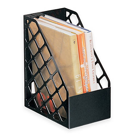 Office Depot® Brand 30% Recycled Mesh Plastic Magazine File, Large, Black