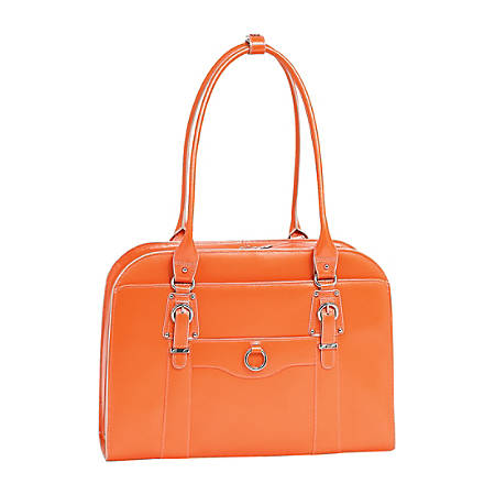 McKleinUSA Hillside Leather Ladies' Briefcase, Orange