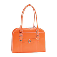 McKleinUSA Hillside Leather Ladies Briefcase Orange