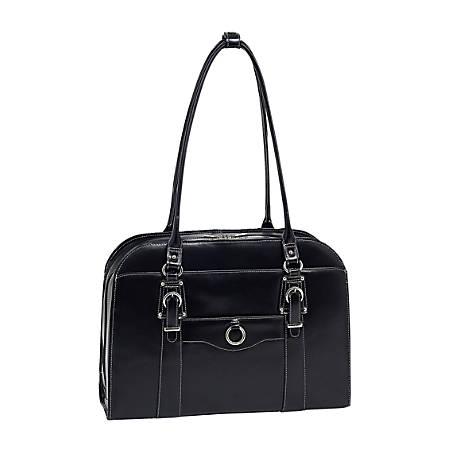 McKleinUSA Hillside Leather Ladies' Briefcase, Black