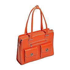 McKleinUSA Verona Leather Ladies Briefcase Orange