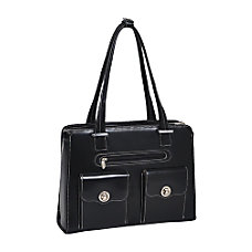 McKleinUSA Verona Leather Ladies Briefcase Black