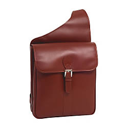 Siamod 14 Leather Vertical Messenger Bag