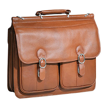 "McKlein Hazel Crest Laptop Case With 17"" Laptop Pocket, Brown"