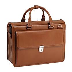 McKleinUSA 156 Leather Litigator Laptop Briefcase