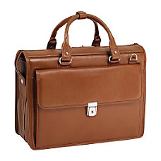 McKleinUSA 156 Leather Litigator Laptop Briefcase