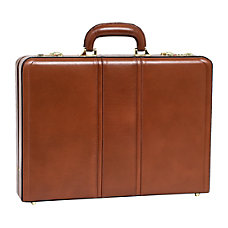 McKleinUSA Daley Leather Attach Case Brown