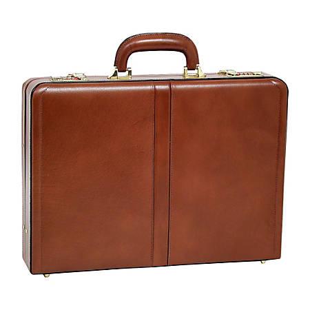 McKleinUSA Reagan Leather Attach? Case, Brown