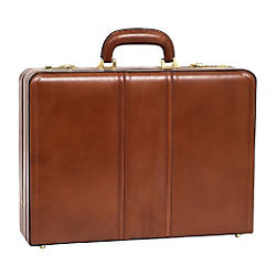 McKleinUSA Leather 45 Expandable Attache Briefcase