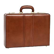 McKleinUSA Coughlin Leather Attache Case Brown