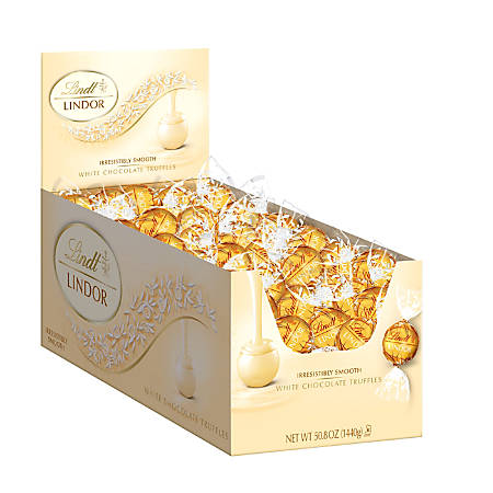 Lindt Lindor White Chocolate Truffles, Box Of 120