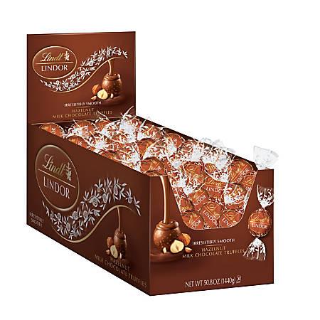 Lindt Lindor Chocolate Truffles, Hazelnut, Box Of 120
